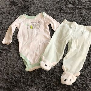 🦋2/$15 JUST ONE YOU by CARTERS 1st Easter outfit